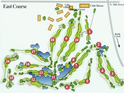 Gull Lake View East Gull Lake View - Us golf course map